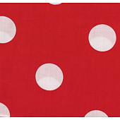 Red Background with White Spots.