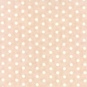 Pale pink/peach with white polka dot