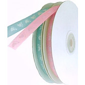 10mm Baby Footprint Grosgrain Ribbon